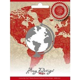 AMY DESIGN AMY DESIGN, stempling og prægning stencil, kort, globe