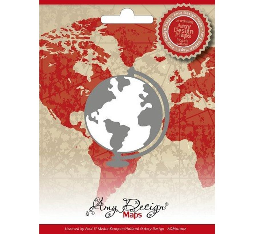 AMY DESIGN, Stamping and embossing stencil, , Maps, Globe