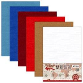 AMY DESIGN AMY DESIGN, Lin Cardboard A5, varme farver