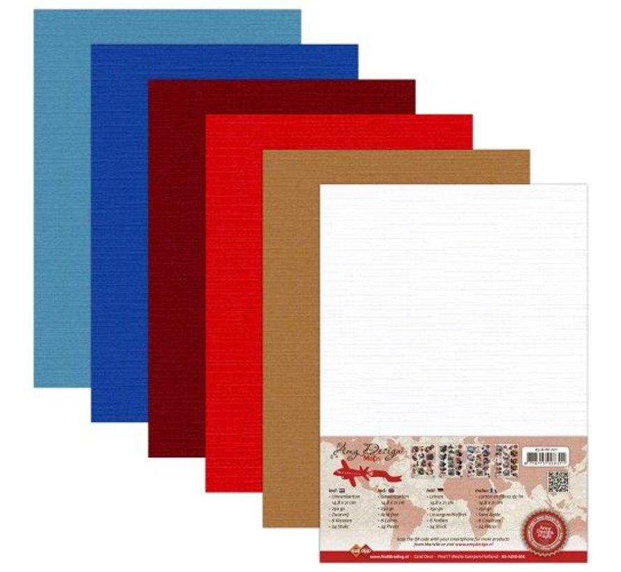 AMY DESIGN, Lin Cardboard A5, warm colors