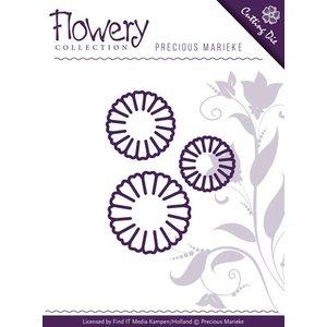 Precious Marieke Stanz- und Prägeschablone: 3 Gänseblümchen Blumen