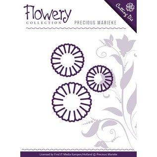 Precious Marieke Punzonatura e goffratura modello: 3 fiori margherita