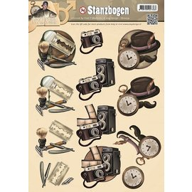 Bilder, 3D Bilder und ausgestanzte Teile usw... feuilles coupées Die, dessins Hommes