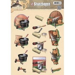 Bilder, 3D Bilder und ausgestanzte Teile usw... Stanzbogen, Männermotive