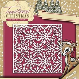 Yvonne Creations Punching and embossing template: Snowflake frame