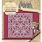 Yvonne Creations Ponsen en embossing sjabloon: frame van de sneeuwvlok