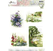 Studio Light A4 broadsheet, tema: havearbejde og blomster