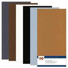 Karten und Scrapbooking Papier, Papier blöcke Linnen karton, Vintage, A5 / 240 gr