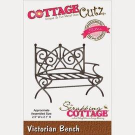 Cottage Cutz Troquelado y estampado en relieve plantilla: Banco de estilo victoriano
