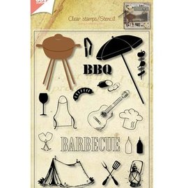 Joy!Crafts / Jeanine´s Art, Hobby Solutions Dies /  Transparent stamps + punching jig Barbecue!