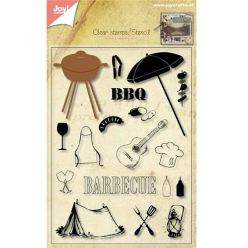 Joy!Crafts / Jeanine´s Art, Hobby Solutions Dies /  Transparent timbres + poinçonnage jig Barbecue!