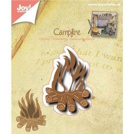 Joy!Crafts / Jeanine´s Art, Hobby Solutions Dies /  Ponsen en embossing sjabloon: Campfire