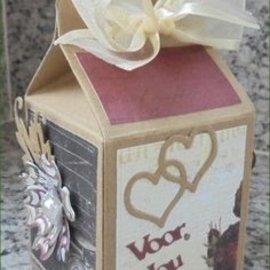 Crealies und CraftEmotions Crear una caja de regalo: estampación y cliché de estampado