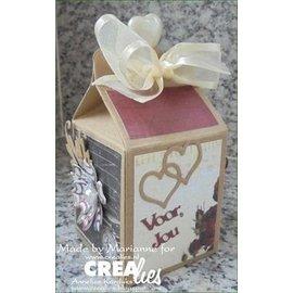 Crealies und CraftEmotions Créer une boîte-cadeau: estampage et gaufrage pochoir