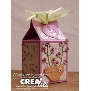 Craftemotions Create a gift box: stamping and embossing stencil