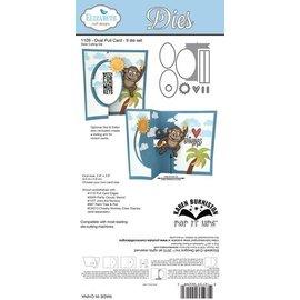 Elisabeth Craft Dies , By Lene, Lawn Fawn PUNCHING MODELLO: per progettare carte pieghevoli mobili, Spiral Oval Pull Card