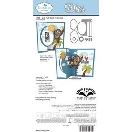 Elisabeth Craft Dies , By Lene, Lawn Fawn Stanzschablone: um bewegliche Faltkarten zu gestalten,  Spiral Ovale Pull Card