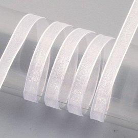 Embellishments / Verzierungen Organza lint zelfkant, 6 mm, wit
