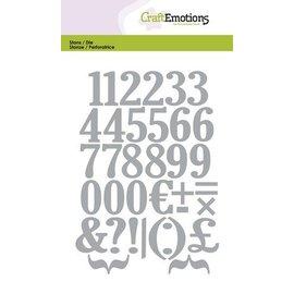Craftemotions Stanz- und Prägeschablone: Zahlen