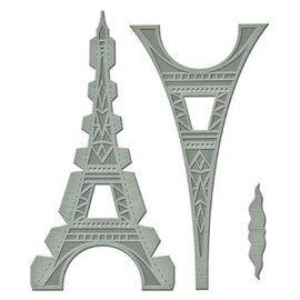Spellbinders und Rayher Punzonatura e goffratura modello: Shapeabilities GLD 010 Le Tour Eiffel