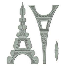 Spellbinders und Rayher Stansning og prægning skabelon: Shapeabilities GLD 010 Le Tour Eiffel