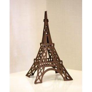Spellbinders und Rayher Ponsen en embossing sjabloon: Shapeabilities GLD 010 Le Tour Eiffel