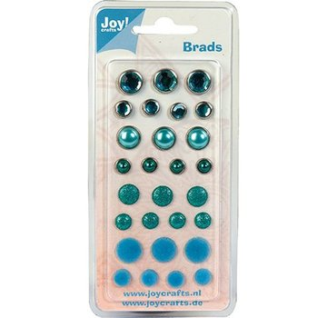 Joy!Crafts / Jeanine´s Art, Hobby Solutions Dies /  Brads, tons bleus