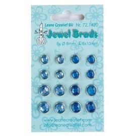 Jewels Brads, dark blue / light blue