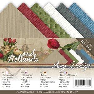 AMY DESIGN AMY DESIGN, Linen cardboard 13,5x27 cm, summer colors,