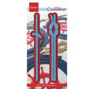 Marianne Design Stanz- und Prägeschablone: Seile