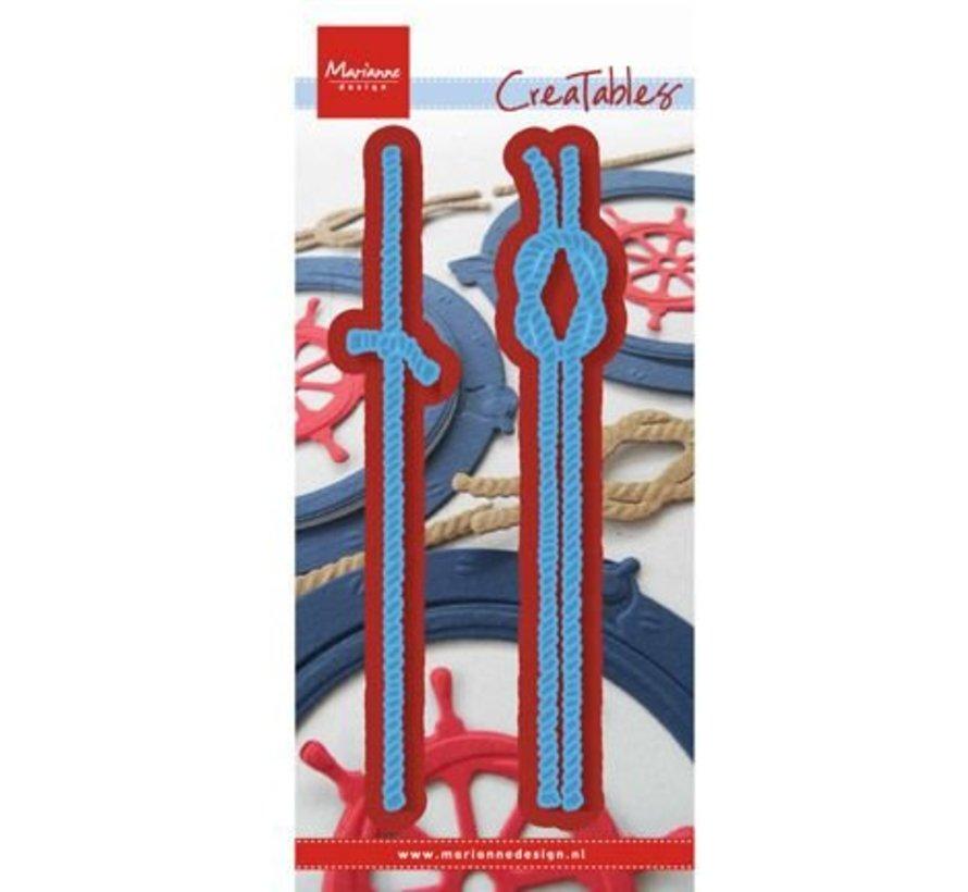 Stanz- und Prägeschablone: Seile