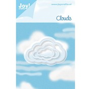 Joy!Crafts / Jeanine´s Art, Hobby Solutions Dies /  Punching and embossing template: 3 Cloud