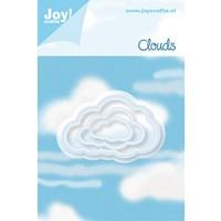 Stanz- und Prägeschablone: 3 Wolken