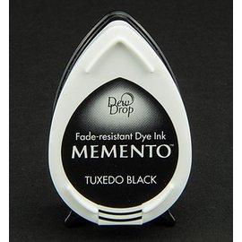 FARBE / STEMPELKISSEN las gotas de rocío MEMENTO sello de tinta InkPad Tuxedo Negro