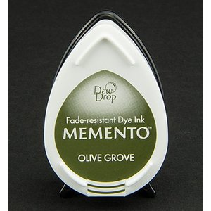 FARBE / STEMPELKISSEN MEMENTO dewdrops stamp ink InkPad Olive Grov