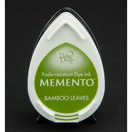 las gotas de rocío MEMENTO sello de tinta InkPad-hojas de bambú