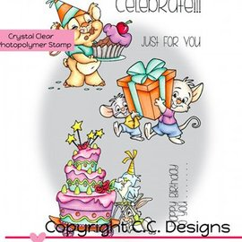 C.C.Designs tampons transparents, les Rascals Roberto Célébrez