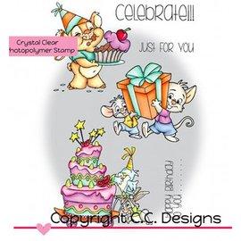 C.C.Designs Transparent stamps, Roberto's Rascals Celebrate