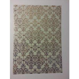 """Karten und Scrapbooking Papier, Papier blöcke deco-box 1 arc d'or laminé """"Baroque"""""""