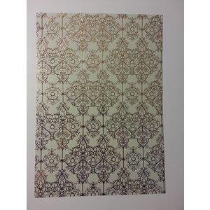 """Karten und Scrapbooking Papier, Papier blöcke gelamineerde gold 1 boog deco-box """"Baroque"""""""