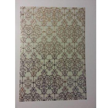 """Karten und Scrapbooking Papier, Papier blöcke laminated gold 1 bow deco-box """"Baroque"""""""