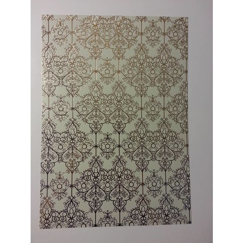 "Karten und Scrapbooking Papier, Papier blöcke 1 Bogen Deko-Karton ""Barock"", gold-laminiert"
