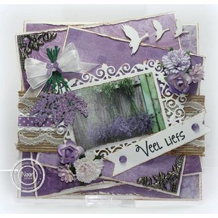 Joy!Crafts / Jeanine´s Art, Hobby Solutions Dies /  Ponsen en embossing sjabloon: Lavender