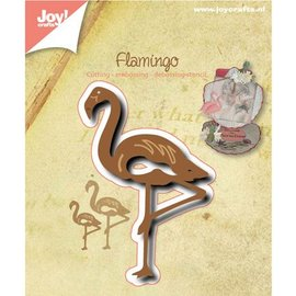 Joy!Crafts / Jeanine´s Art, Hobby Solutions Dies /  Ponsen en embossing sjabloon: Flamingo
