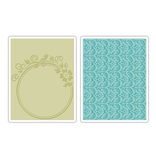 Sizzix Embossing folders, 2 stuks, met bloemen en rozemarijn Ontwerp