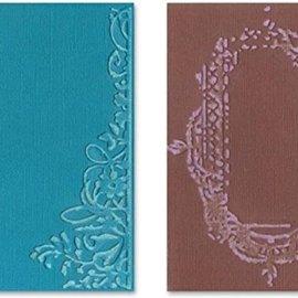 Sizzix Gaufrage dossiers, 2 pièces, cadre avec des remous et des cadres avec motif floral