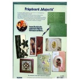 """REDDY Prægning Board """"Majestic"""" med instruktioner (foran og bagpå)"""
