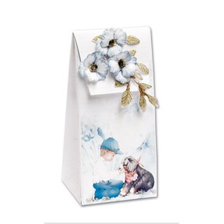 BASTELSETS / CRAFT KITS Complete set for 4 cards and 4 gift bags !!