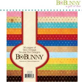 BO BUNNY Aktion! BoBunny, Designerblock mit Punkten in Vintage farbe