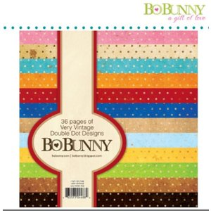 BO BUNNY BoBunny, Designersblock met punten in vintage kleur